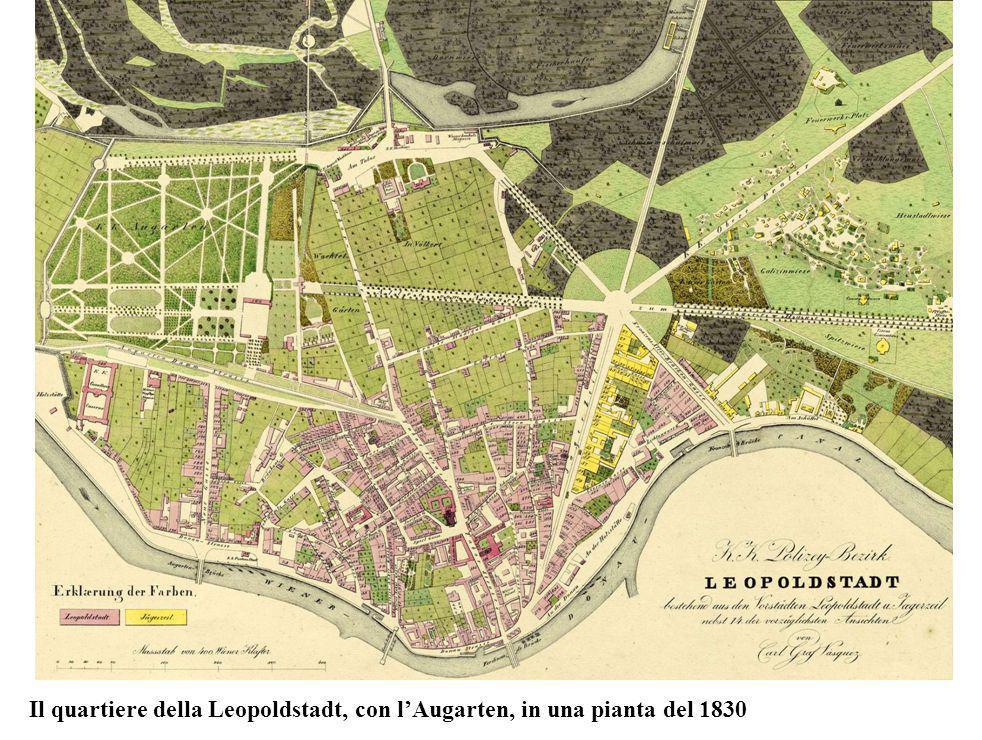 Il quartiere della Leopoldstadt, con lAugarten, in una pianta del 1830