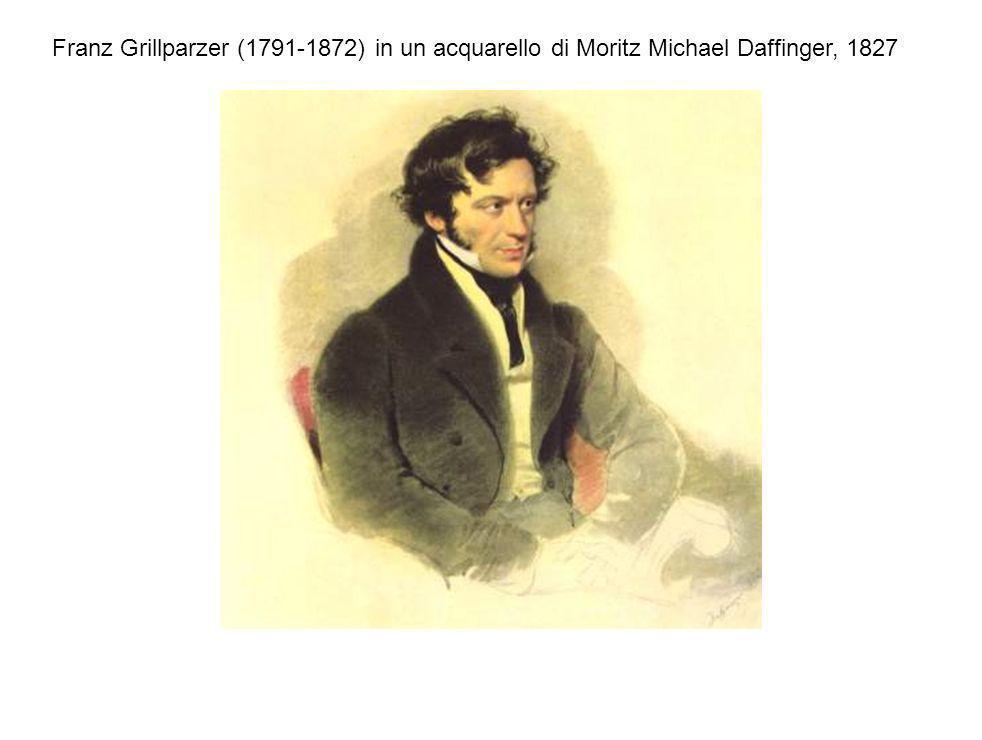 Franz Grillparzer (1791-1872) in un acquarello di Moritz Michael Daffinger, 1827