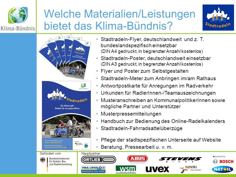 HauptpartnerGefördert vom Stadtradeln-Flyer, deutschlandweit und z.