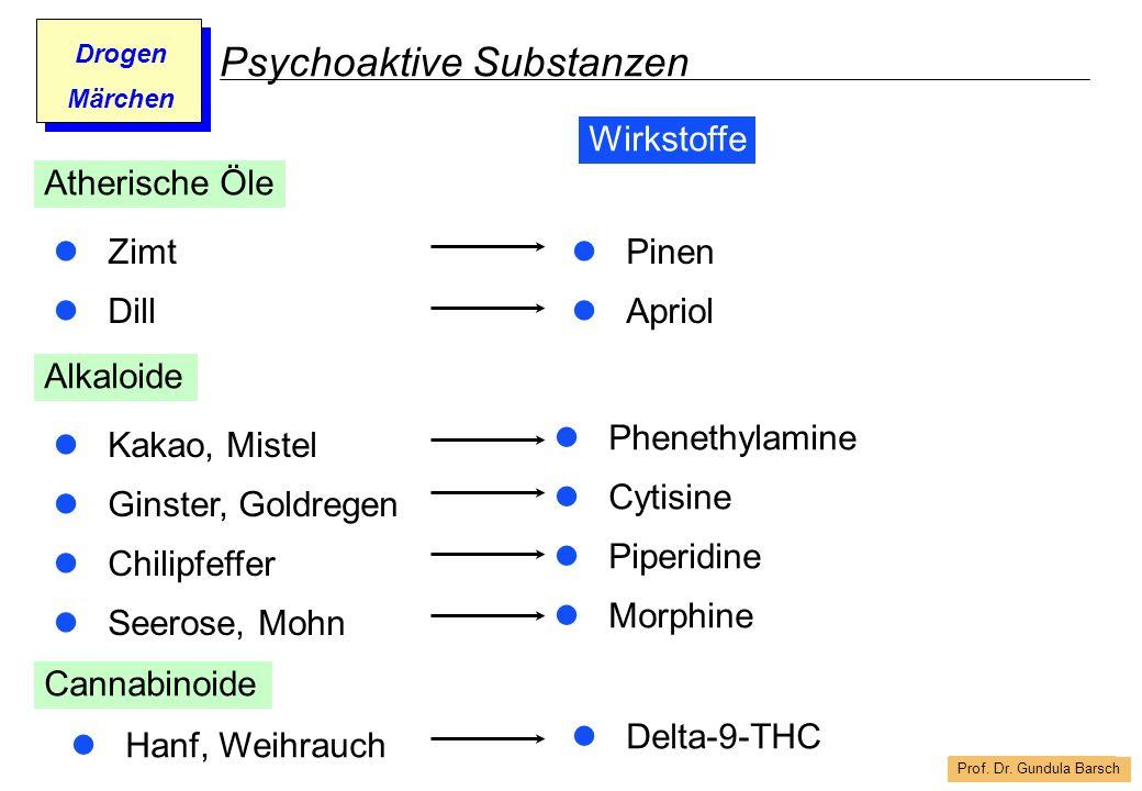 Prof. Dr. Gundula Barsch Drogen Märchen Psychoaktive Substanzen Zimt Dill Pinen Apriol Atherische Öle Wirkstoffe Alkaloide Kakao, Mistel Ginster, Gold