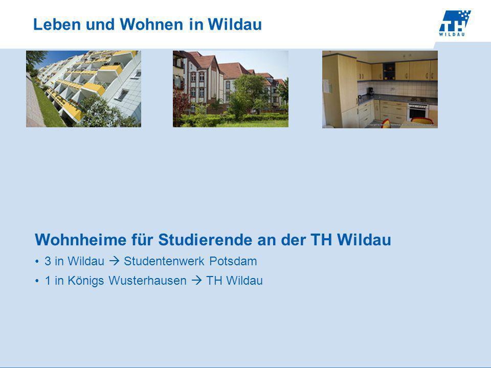 Leben und Wohnen in Wildau Wohnheime für Studierende an der TH Wildau 3 in Wildau Studentenwerk Potsdam 1 in Königs Wusterhausen TH Wildau