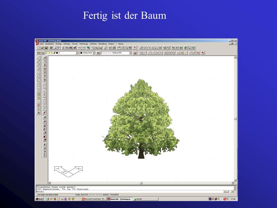 Fertig ist der Baum