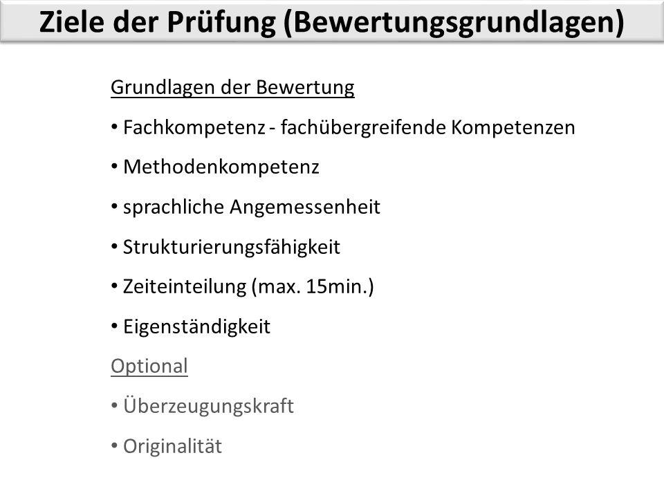 Planung der Präsentation - Vortragseinteilung Vortragsdauer 10min.