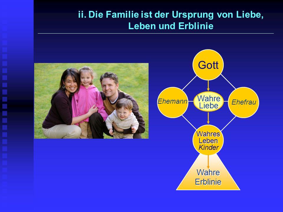 Wahre Liebe Gott Wahres Leben Wahres Leben Kinder Wahre Erblinie Ehemann Ehefrau ii. Die Familie ist der Ursprung von Liebe, Leben und Erblinie