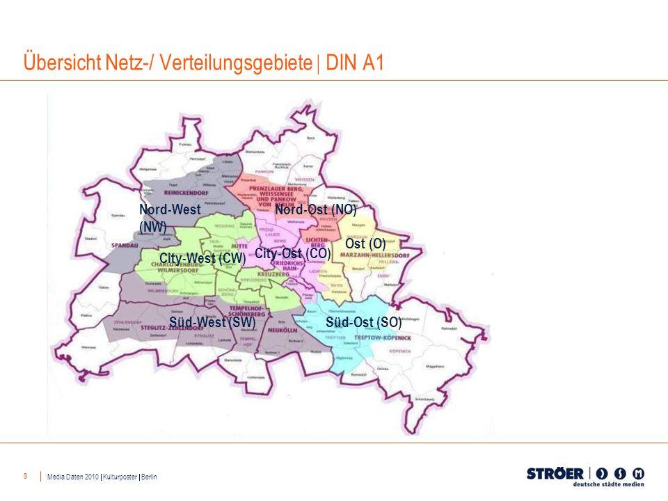 5 Übersicht Netz-/ Verteilungsgebiete DIN A1 Nord-West (NW) Nord-Ost (NO) Ost (O) Süd-Ost (SO)Süd-West (SW) City-West (CW) City-Ost (CO) Media Daten 2