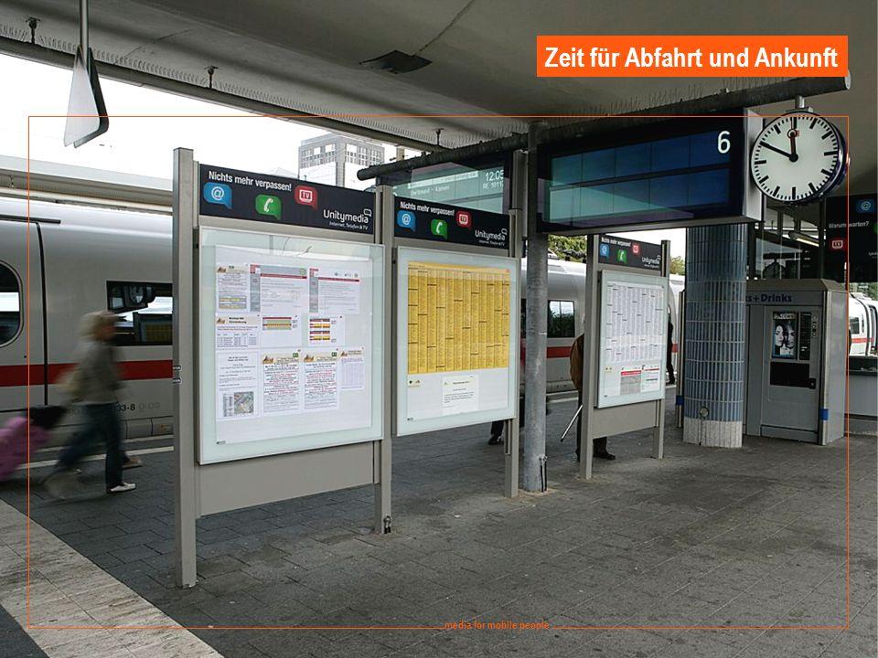 10 media for mobile people Ströer DERG Media - September 2008 media for mobile people Zeit für Abfahrt und Ankunft
