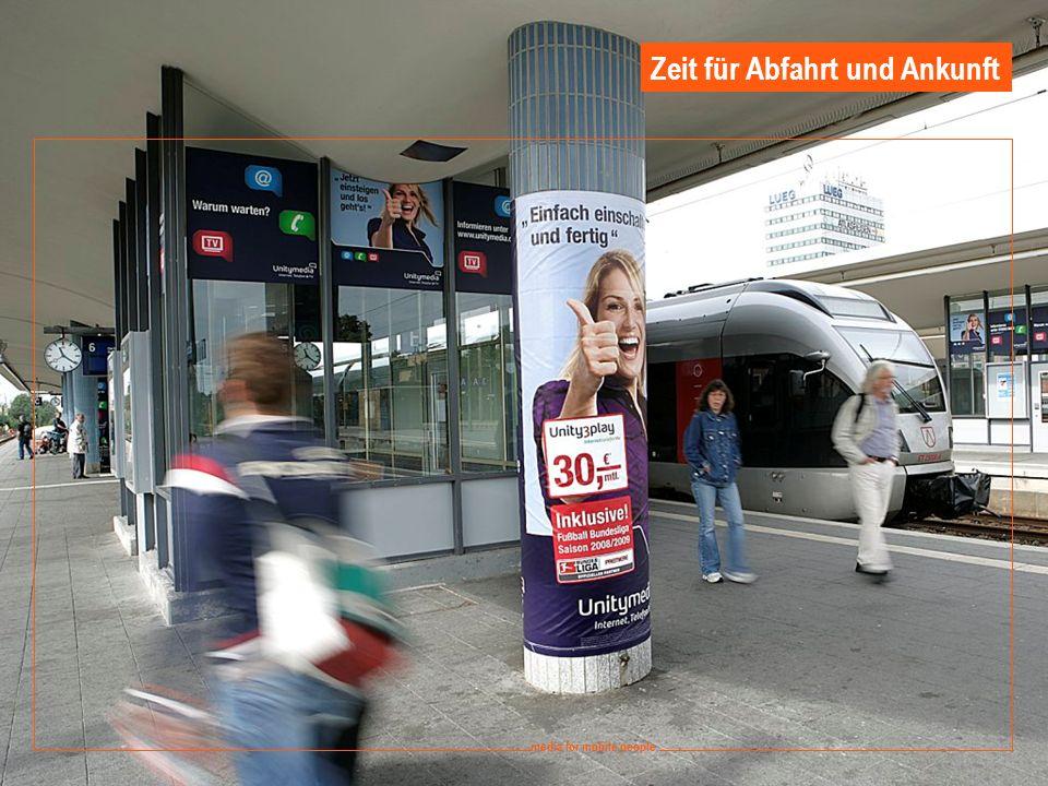 11 media for mobile people Ströer DERG Media - September 2008 media for mobile people Zeit für Abfahrt und Ankunft