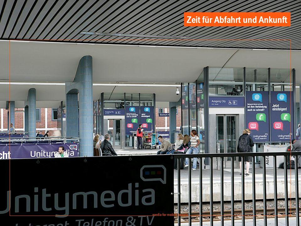 8 media for mobile people Ströer DERG Media - September 2008 media for mobile people Zeit für Abfahrt und Ankunft