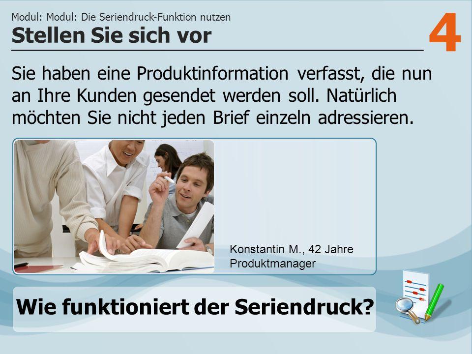 5 Schritt 1 Den Seriendruck- Manager starten Sie mit dem Befehl Seriendruck starten auf der Registerkarte Sendungen.