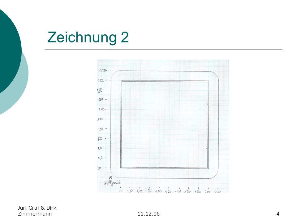 Juri Graf & Dirk Zimmermann11.12.065 Kostenrechnung mit 54 die Stunde und Materialkosten Materialkosten 220mm X 220mm X 5mm kosten 15.
