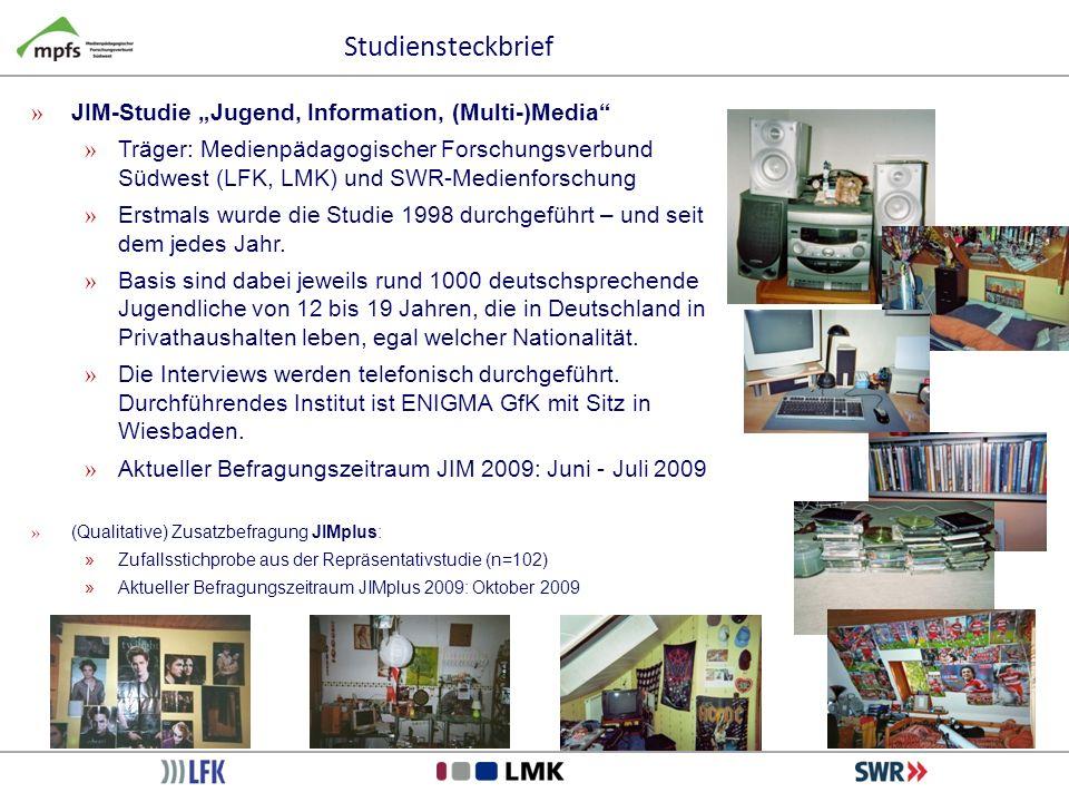 Studiensteckbrief » JIM-Studie Jugend, Information, (Multi-)Media » Träger: Medienpädagogischer Forschungsverbund Südwest (LFK, LMK) und SWR-Medienfor