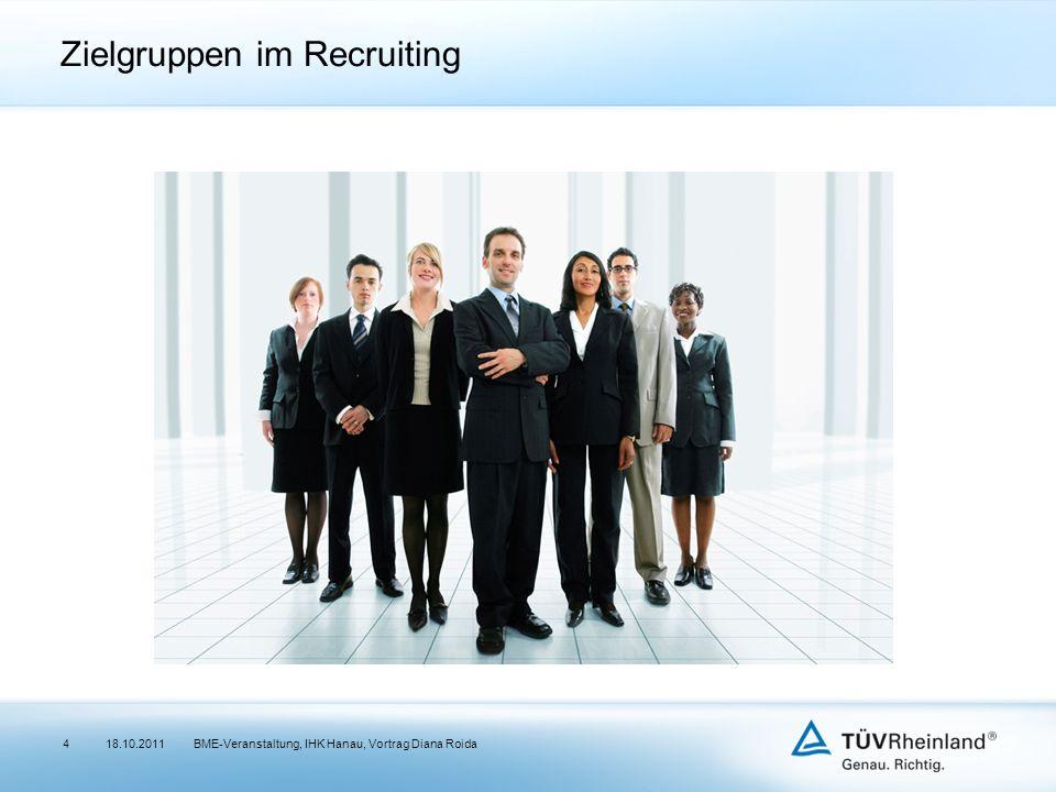 Zielgruppen im Recruiting 18.10.2011BME-Veranstaltung, IHK Hanau, Vortrag Diana Roida4