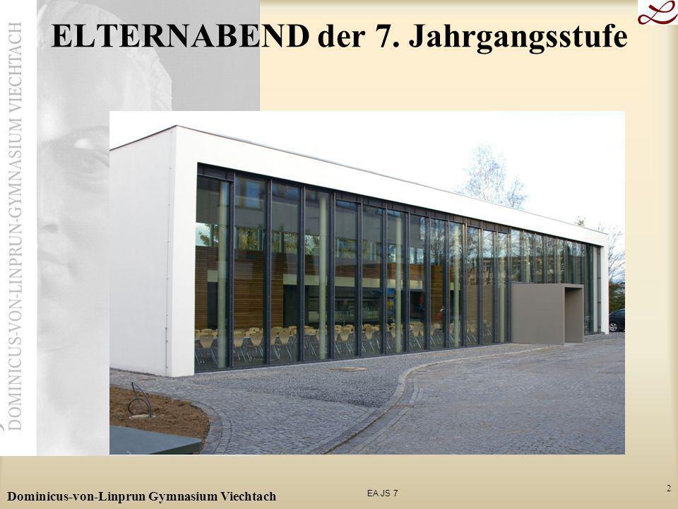 EA JS 7 Dominicus-von-Linprun Gymnasium Viechtach 2 ELTERNABEND der 7. Jahrgangsstufe