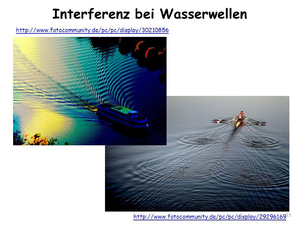 Interferenz bei Wasserwellen 15 http://www.fotocommunity.de/pc/pc/display/30210856 http://www.fotocommunity.de/pc/pc/display/29296169
