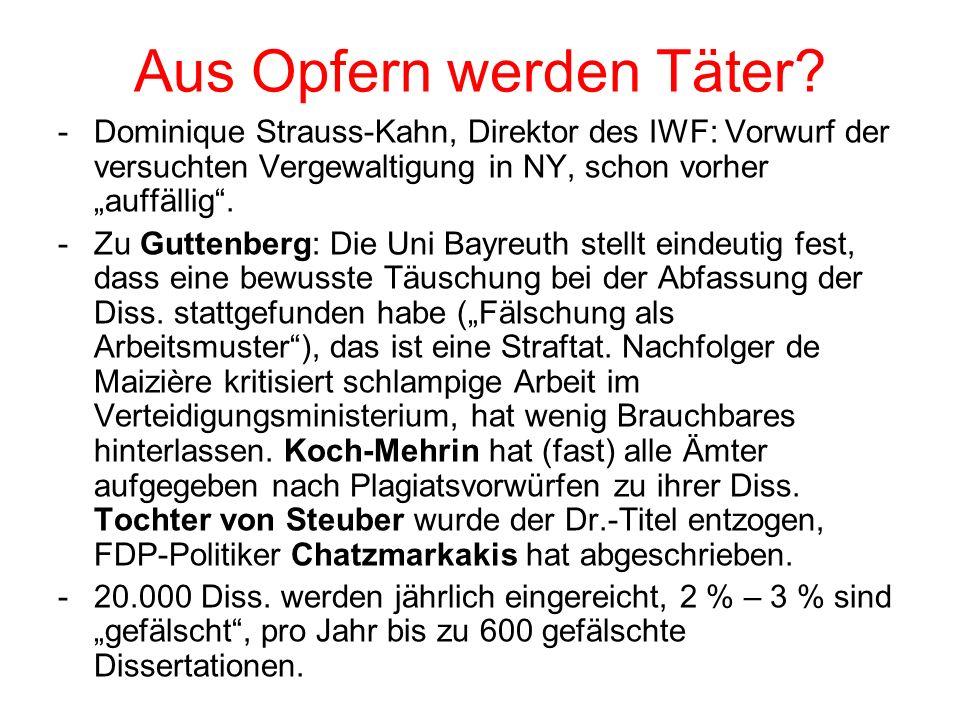 Aus Opfern werden Täter.-Korruption (Siemens), Bestechung im Ausland ist üblich.