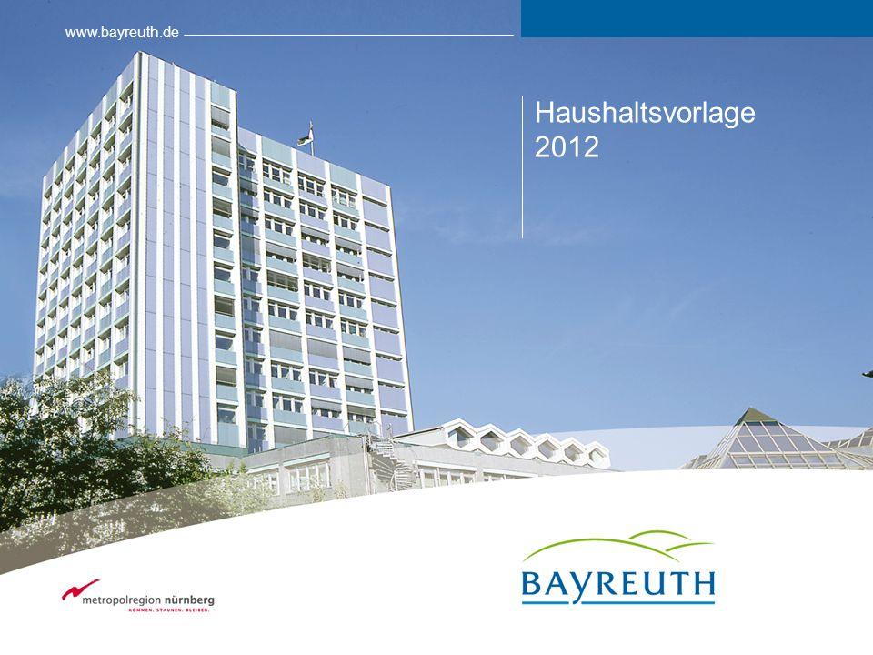 www.bayreuth.de Haushaltsvorlage 2012