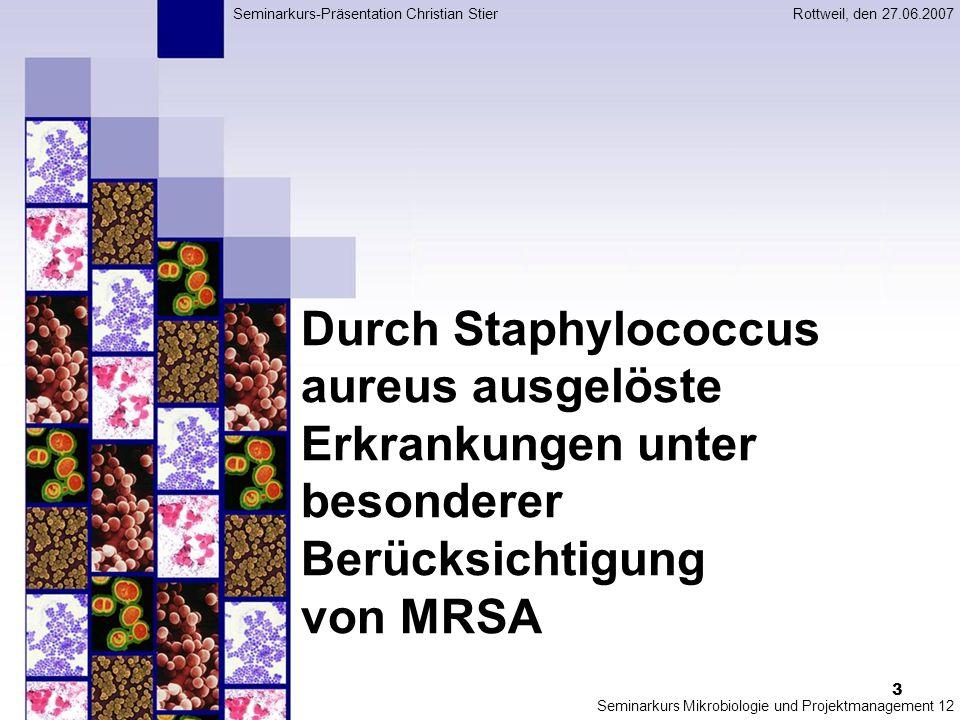 4 http://textbookofbacteriology.net S.aureus, schematische Darstellung http://textbookofbacteriology.net 1.Morphologie Gram- und Katalase- positive, unbewegliche Kokken Keine Sporen Haufenbildung Wachstum: 15°-45° C, optimal: 30°-37° C Hohe Resistenz gegenüber Wassergehalt, pH-Wert Fakultativ anaerob Kann Polysaccharid-Kapsel bilden Gramfärbung Staphylococcus aureus (S.aureus) aus einem eitrigen Exsudat