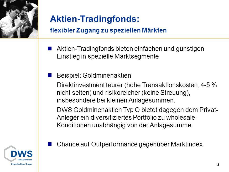 3 Aktien-Tradingfonds: flexibler Zugang zu speziellen Märkten Aktien-Tradingfonds bieten einfachen und günstigen Einstieg in spezielle Marktsegmente B