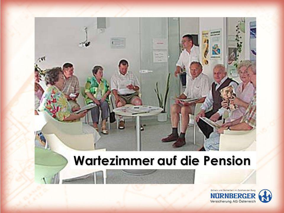 Wartezimmer auf die Pension