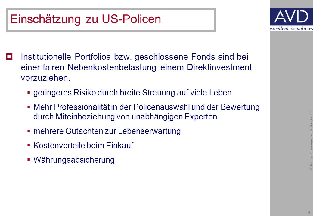 4 © Allgemeiner Versicherungsdienst Gesellschaft m.b.H.