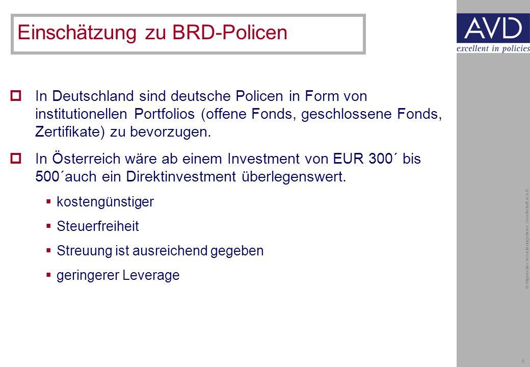 6 © Allgemeiner Versicherungsdienst Gesellschaft m.b.H.