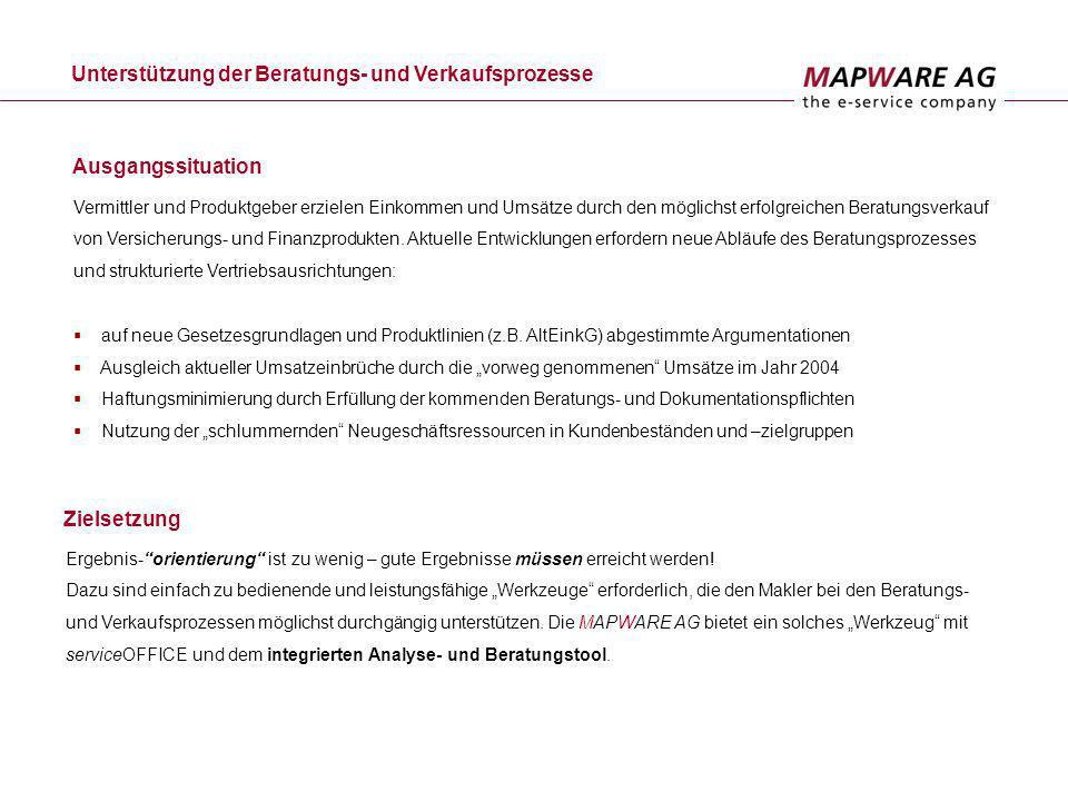 Vertriebs- und Verwaltungssystem Die Basis ist serviceOFFICE.
