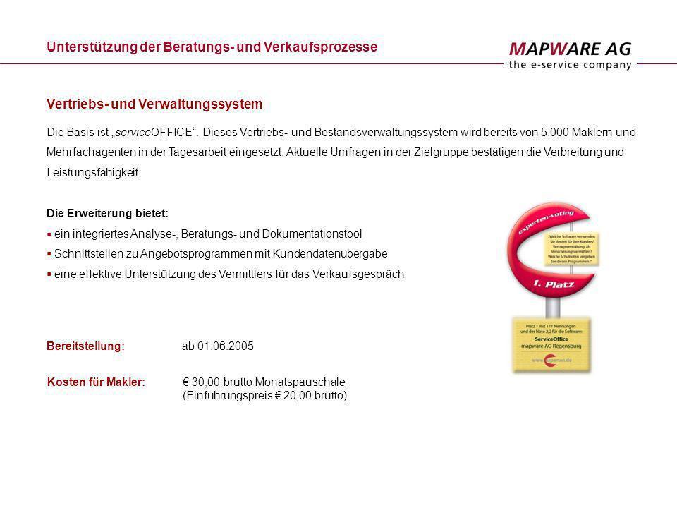 Kontakt Bischof-von-Henle-Straße 2 b D-93051 Regensburg Telefon: 09 41 / 29 62-200 Telefax: 09 41 / 29 62-199 Eva Janik Leiterin Marketing/Key Account E-Mail: eva.janik@mapware.de Internet: www.mapware.de Für weitere Informationen stehe ich Ihnen gerne zur Verfügung.
