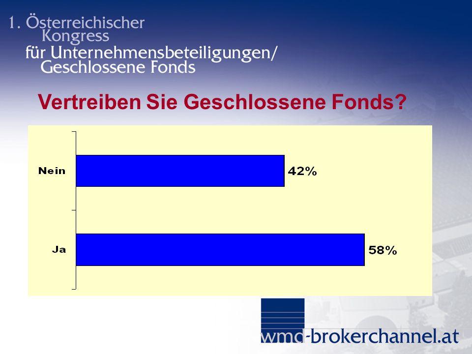 Vertreiben Sie Geschlossene Fonds?