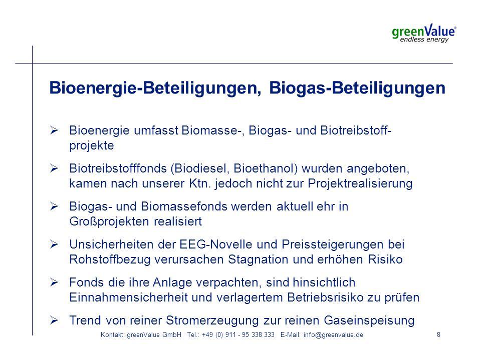 Kontakt: greenValue GmbH Tel.: +49 (0) 911 - 95 338 333 E-Mail: info@greenvalue.de9 Geothermie-Beteiligungen Bislang keine laufenden Geothermiekraftwerke, die durch geschlossene Fonds finanziert wurden Dutzende Bergrechte in den drei geologisch geeigneten Regionen gesichert (Molassebecken, Oberhreingraben, Norddeutsches Becken Dauer für Bohrungen (Dublette) und Kraftwerkserrichtung 24 Monate Vergleichsweise hohes Risiko der Bohrungen abgefedert durch Private Equity oder Versicherung, Kraftwerksfonds erwirbt die Bohrungen, errichtet und betreibt das Kraftwerk