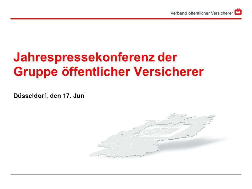 Jahrespressekonferenz der Gruppe öffentlicher Versicherer Düsseldorf, den 17. Juni 2005