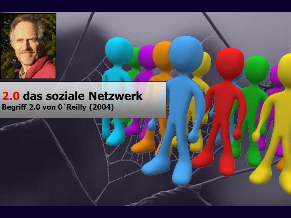 2.0 das soziale Netzwerk Begriff 2.0 von 0`Reilly (2004)