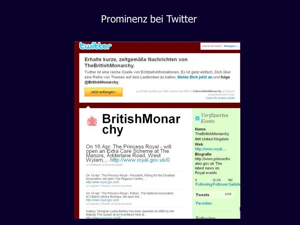 Prominenz bei Twitter