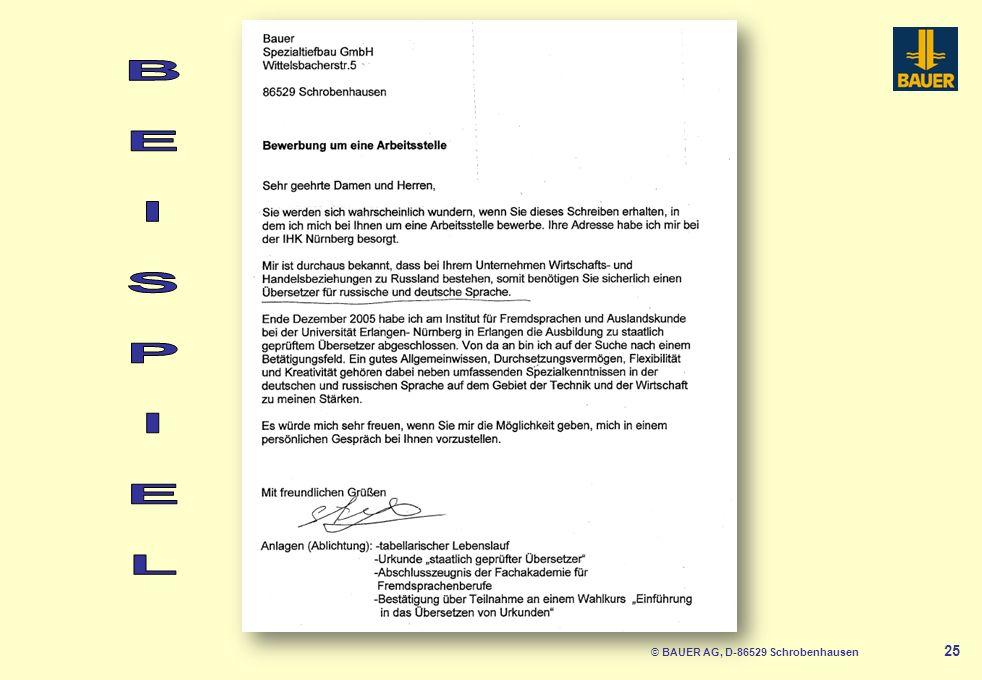 © BAUER AG, D-86529 Schrobenhausen 25