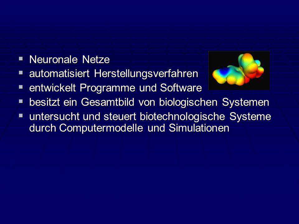 Neuronale Netze Neuronale Netze automatisiert Herstellungsverfahren automatisiert Herstellungsverfahren entwickelt Programme und Software entwickelt P