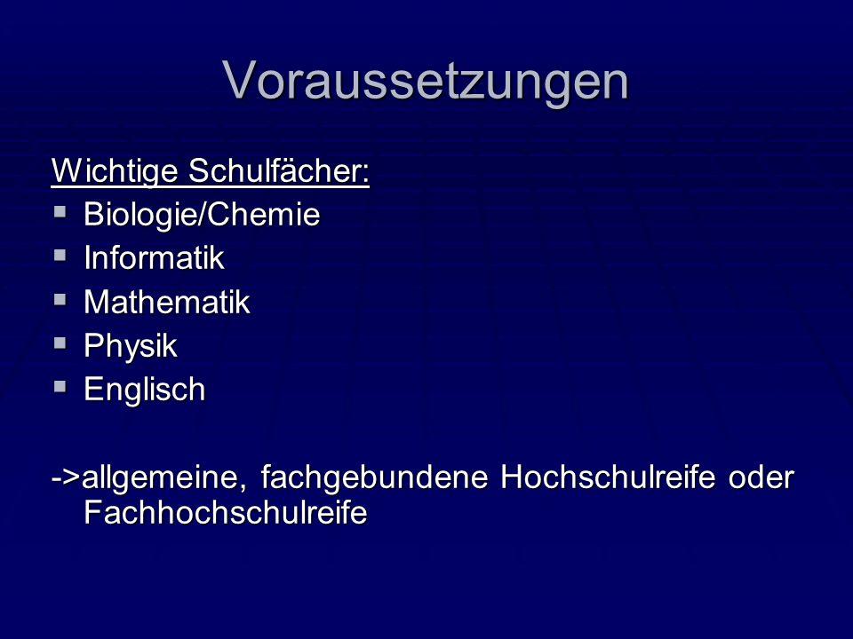 Quellen www.bioinformatikforum.de aufgerufen am 18.1.10 www.bioinformatikforum.de aufgerufen am 18.1.10 www.fh-weihenstephan.de www.fh-weihenstephan.de http://berufenet.arbeitsagentur.de/berufe/resultLi st.do?searchString=%27+Bioinformatiker*+%27 &resultListItemsValues=58579_58689&suchweg =begriff&doNext=forwardToResultShort http://berufenet.arbeitsagentur.de/berufe/resultLi st.do?searchString=%27+Bioinformatiker*+%27 &resultListItemsValues=58579_58689&suchweg =begriff&doNext=forwardToResultShort
