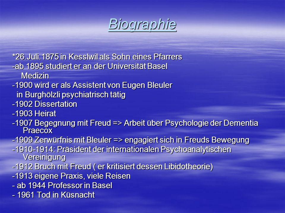 Biographie *26.Juli.1875 in Kesslwil als Sohn eines Pfarrers -ab 1895 studiert er an der Universität Basel Medizin Medizin -1900 wird er als Assistent