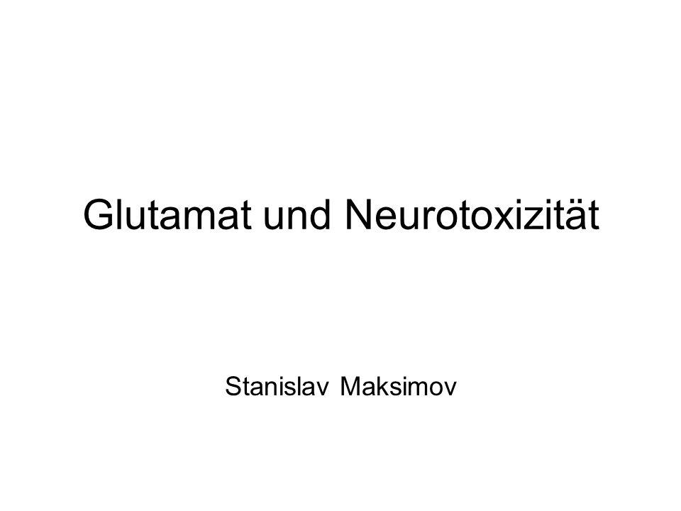 Glutamat und Neurotoxizität Stanislav Maksimov