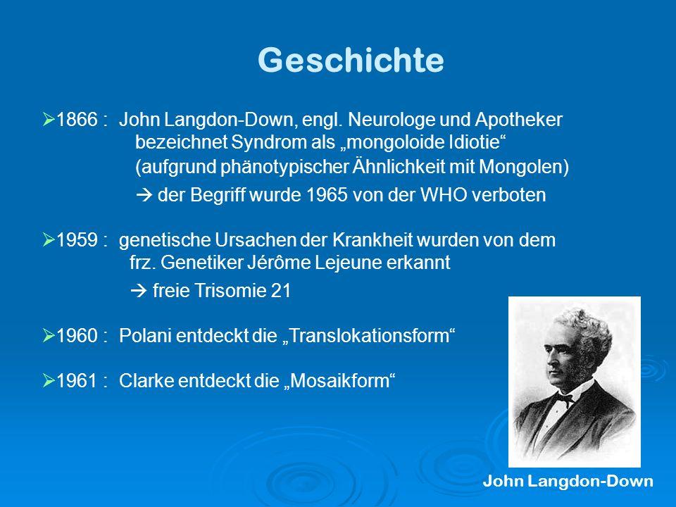 Geschichte 1866 : John Langdon-Down, engl.