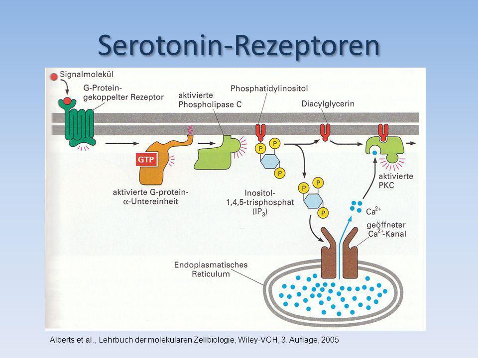 Serotonin-Rezeptoren Alberts et al., Lehrbuch der molekularen Zellbiologie, Wiley-VCH, 3. Auflage, 2005