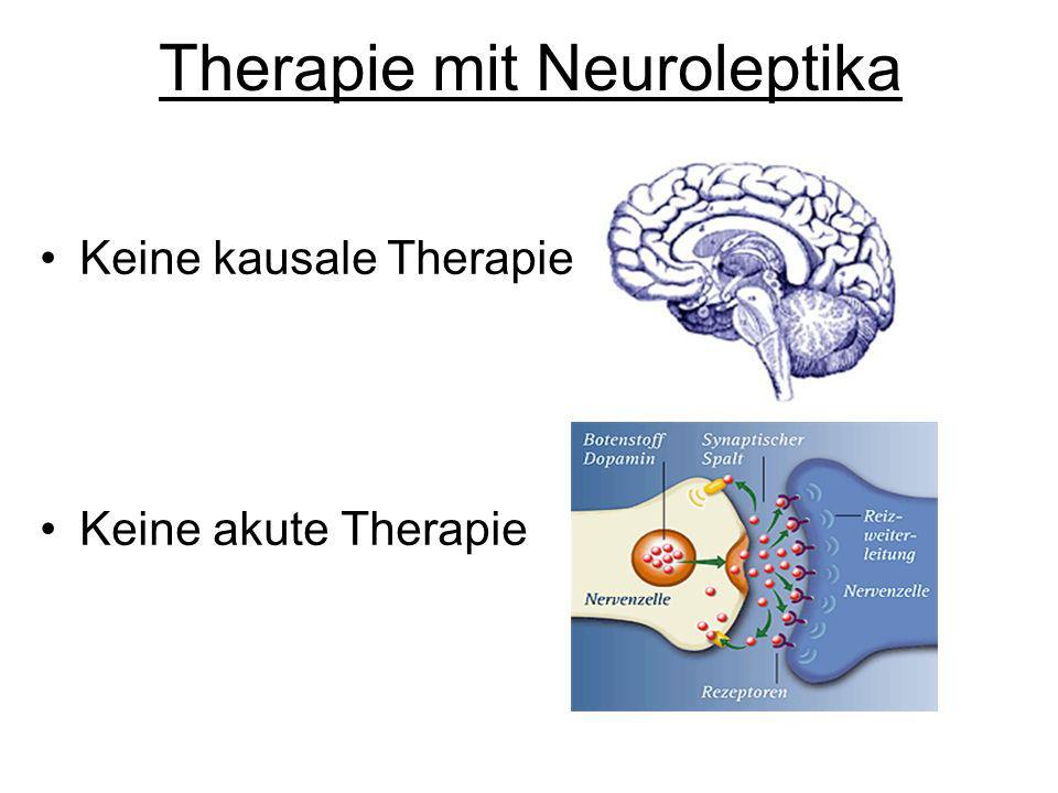 Therapie mit Neuroleptika Keine kausale Therapie Keine akute Therapie