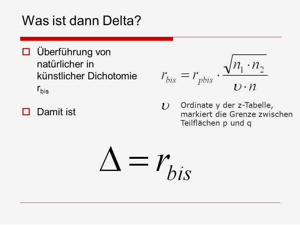 Was ist dann Delta.