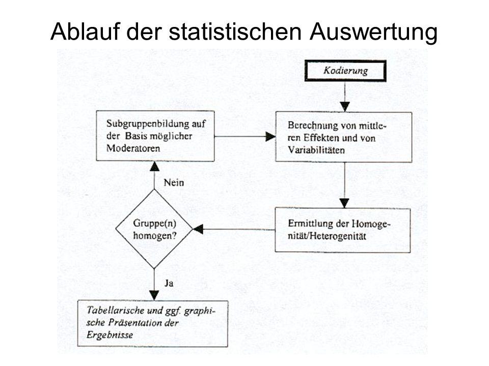 Ablauf der statistischen Auswertung