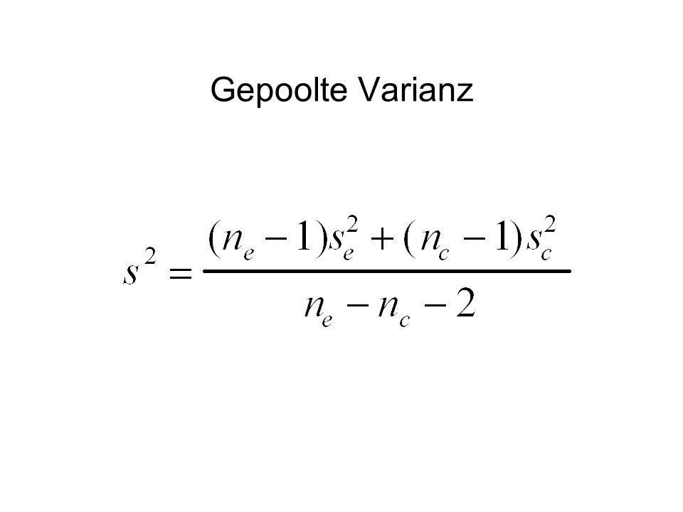 Gepoolte Varianz