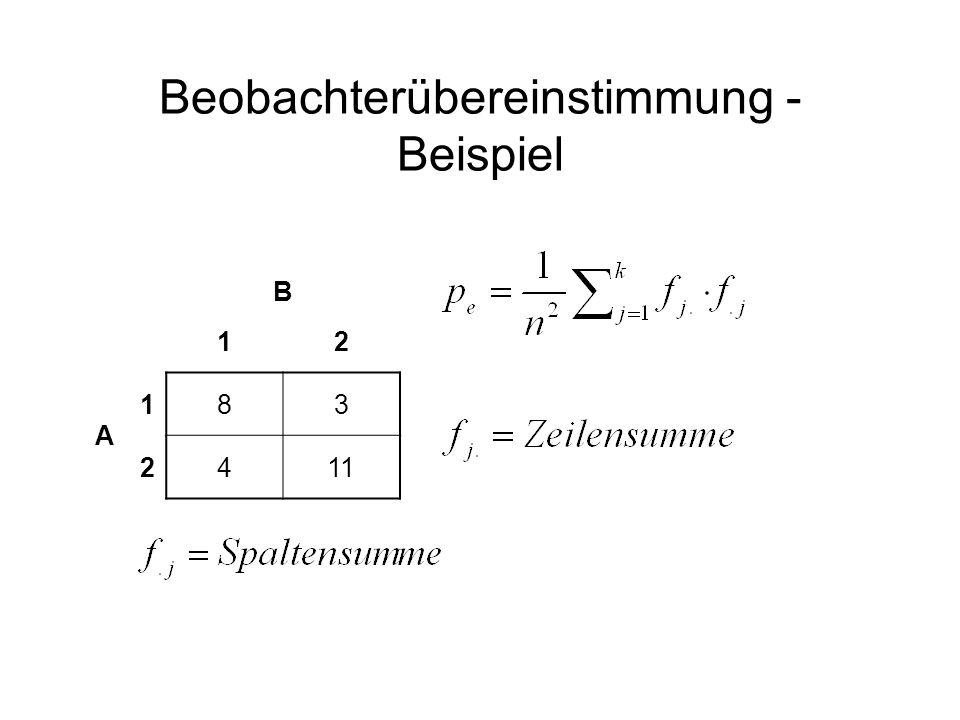 Beobachterübereinstimmung - Beispiel B 12 A 183 2411