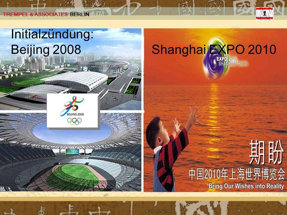 Initialzündung: Beijing 2008 Shanghai EXPO 2010 TREMPEL & ASSOCIATES BERLIN