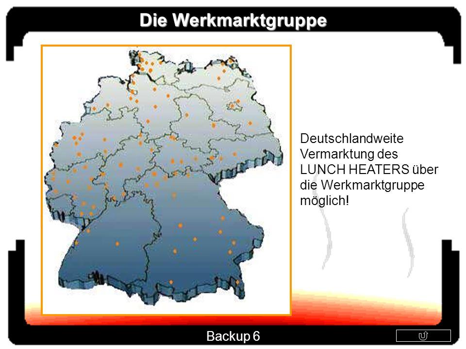 Die Werkmarktgruppe Deutschlandweite Vermarktung des LUNCH HEATERS über die Werkmarktgruppe möglich! Backup 6