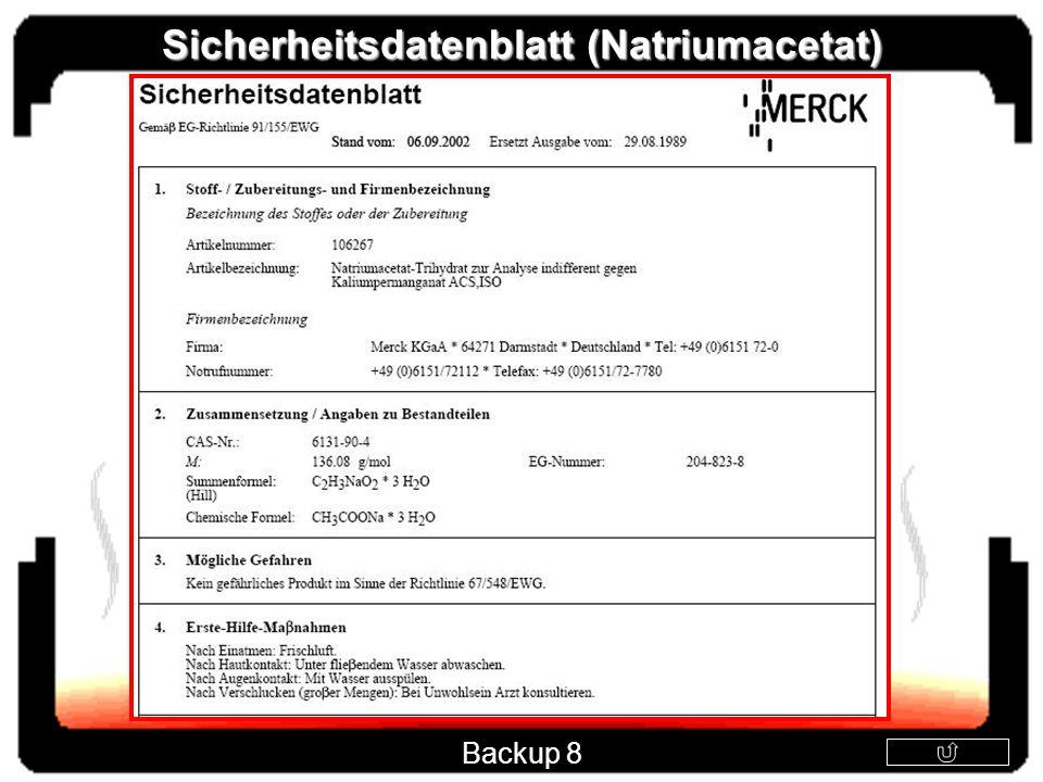 Sicherheitsdatenblatt (Natriumacetat) Backup 8