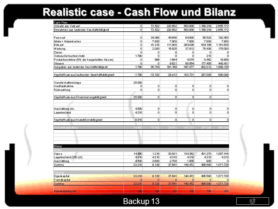 Realistic case - Cash Flow und Bilanz Backup 13