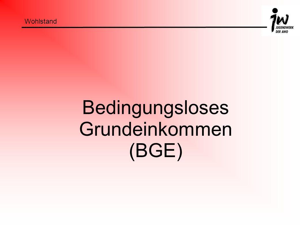 Bedingungsloses Grundeinkommen (BGE)