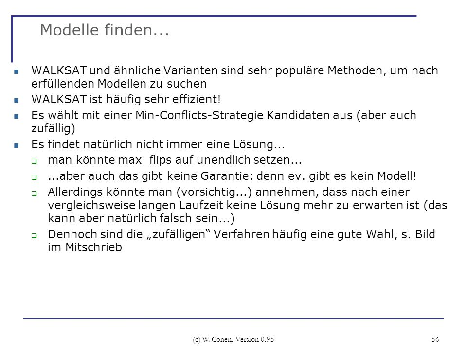 (c) W.Conen, Version 0.95 56 Modelle finden...